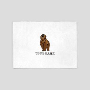 Bear Roaring (Custom) 5'x7'Area Rug