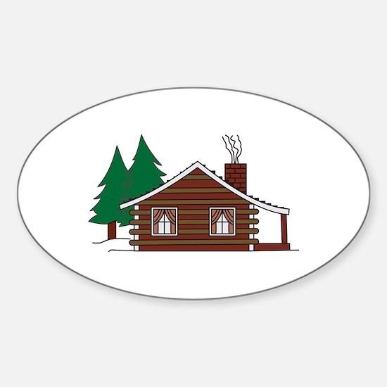 Log Cabin Decal