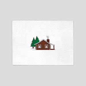 Log Cabin 5'x7'Area Rug