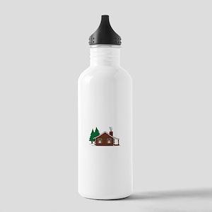 Log Cabin Water Bottle