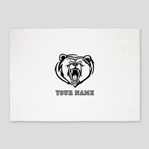 Mean Bear (Custom) 5'x7'Area Rug