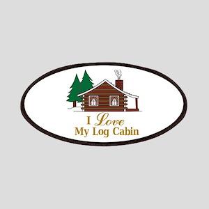 I Love My Log Cabin Patch