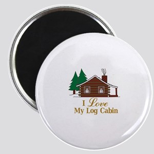 I Love My Log Cabin Magnets