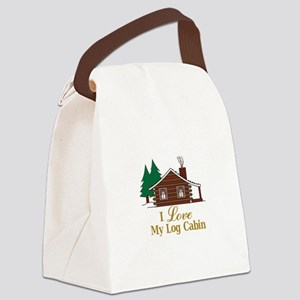 I Love My Log Cabin Canvas Lunch Bag