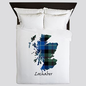 Map - Lochaber dist. Queen Duvet