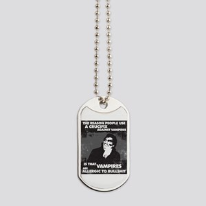 Vampires are Allergic... Dog Tags