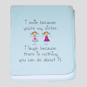 Sister Smile baby blanket