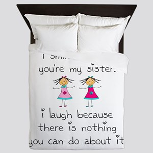 Sister Smile Queen Duvet