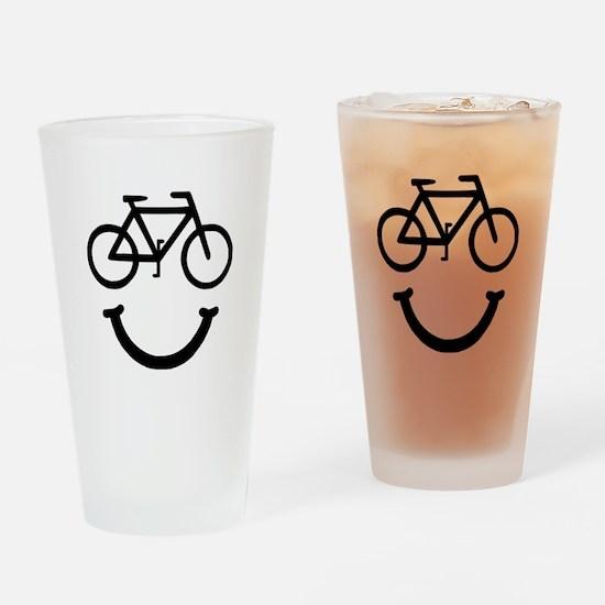 Bike Smile Drinking Glass
