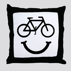 Bike Smile Throw Pillow
