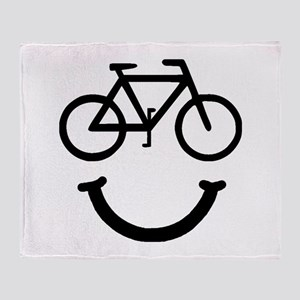 Bike Smile Throw Blanket