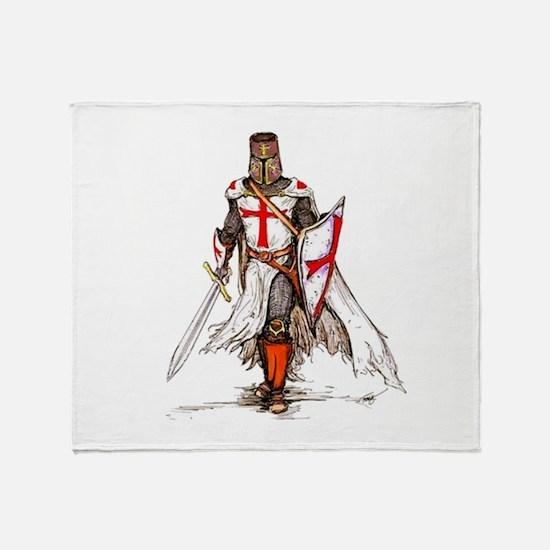 Templar Knight Throw Blanket
