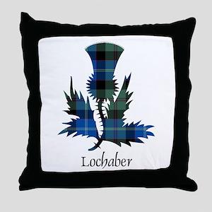 Thistle - Lochaber dist. Throw Pillow