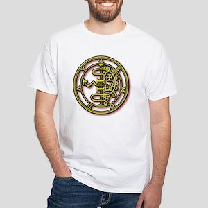 Demon Designs: Asmoday/Asmode White T-Shirt