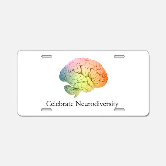 Celebrate Neurodiversity Aluminum License Plate