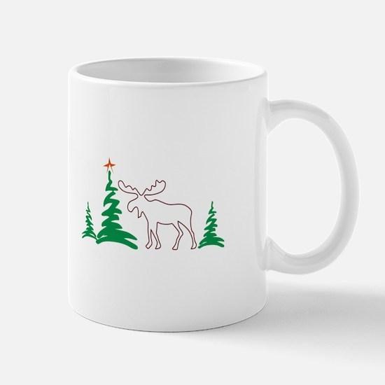 Christmas Moose Outline Mugs
