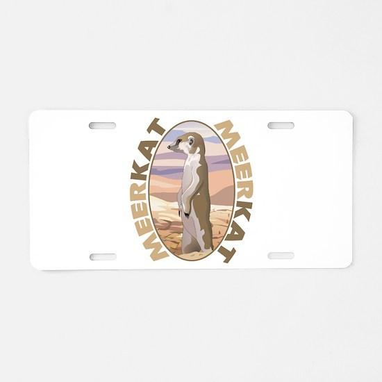 Meerkat Aluminum License Plate