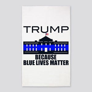Trump men in blue Area Rug