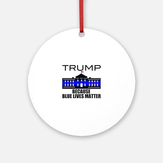Trump men in blue Round Ornament