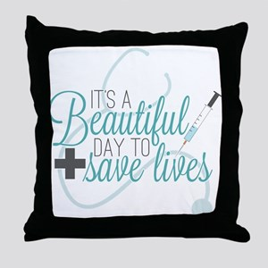 Grey's Anatomy: A Beautiful Day Throw Pillow