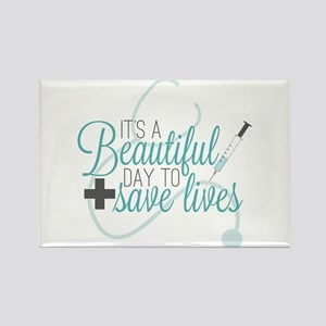 Grey's Anatomy: A Beautiful Day Rectangle Magnet