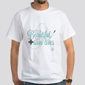 Grey's Anatomy: A Beautiful Day White T-Shirt