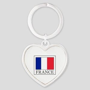 France Heart Keychain