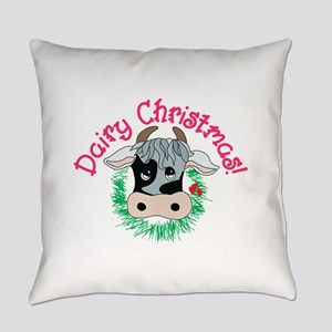 Dairy Christmas Everyday Pillow