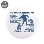 "Zombie Jezabub 3.5"" Button (10 Pack)"