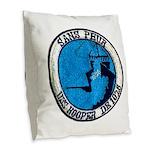 USS HOOPER Burlap Throw Pillow
