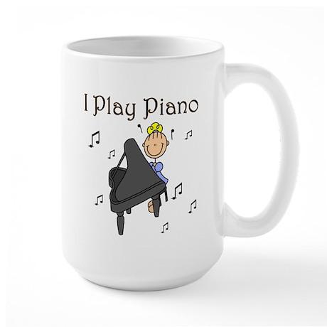 I Play Piano Large Mug