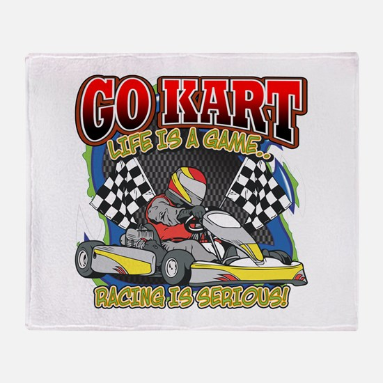 Go Kart Life Throw Blanket