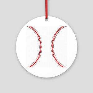 Baseball Round Ornament