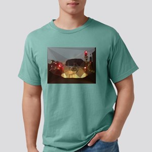 Red Light Los Angeles Low Poly T-Shirt
