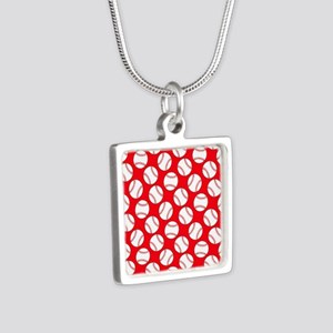 Red Baseball Pattern Necklaces