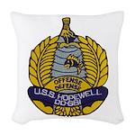 USS HOPEWELL Woven Throw Pillow
