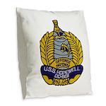 USS HOPEWELL Burlap Throw Pillow