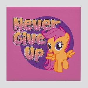 MLP Scootaloo Never Give Up Tile Coaster