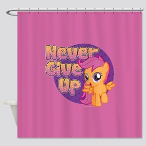 MLP Scootaloo Never Give Up Shower Curtain