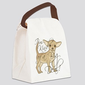Chihuahua I'm Kind of a Big Deal Canvas Lunch Bag