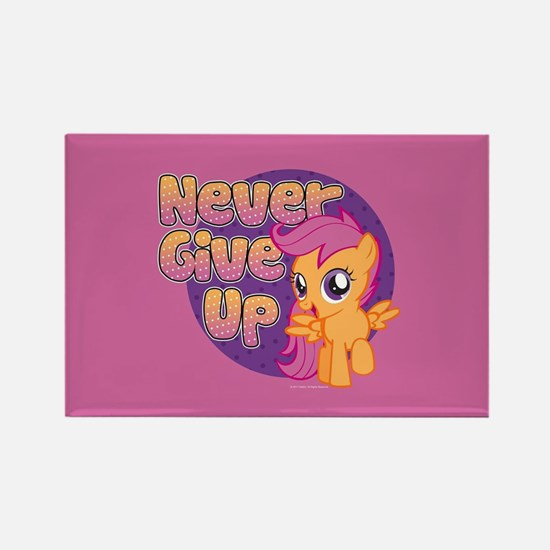 MLP Scootaloo Never Give Up Rectangle Magnet