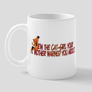 Cat-Girl Warned Mug
