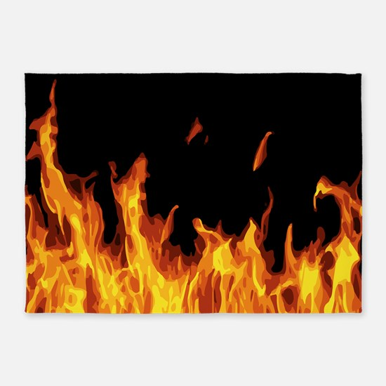 Flames 5'x7'Area Rug