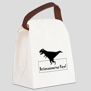 Brainosaurus Rex Canvas Lunch Bag