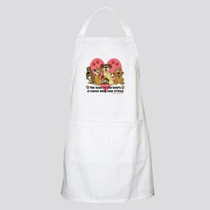 The Road To My Heart Dog Paw Prints Apron