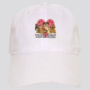 The Road To My Heart Dog Paw Prints Cap