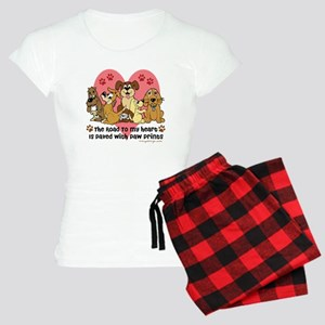 The Road To My Heart Dog Pa Women's Light Pajamas