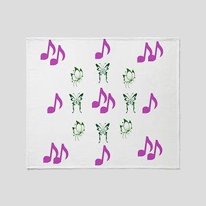 Butterflies & Notes Throw Blanket