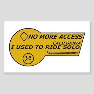 I Used To Ride Solo Sticker