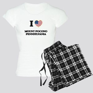 I love Mount Pocono Pennsyl Women's Light Pajamas